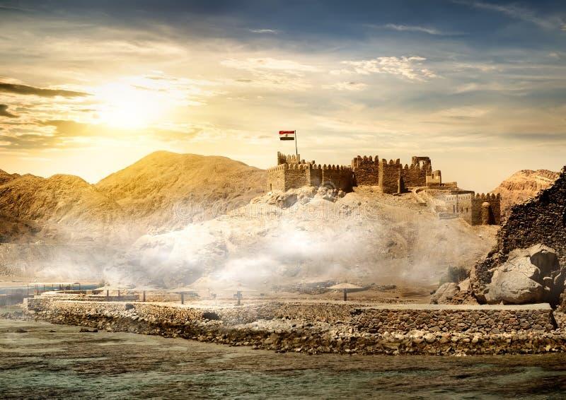 Île des pharaons à Taba images libres de droits