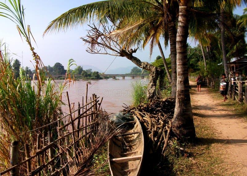 Île du Mékong, Don Det photographie stock