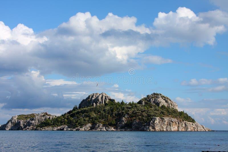 Île en mer Égée. La Turquie photographie stock libre de droits