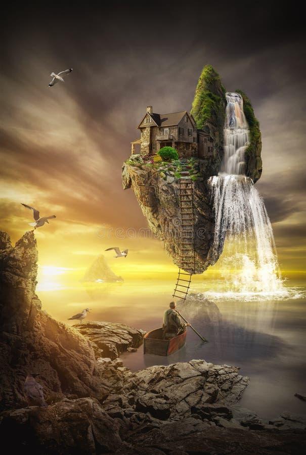 Île fabuleuse illustration stock