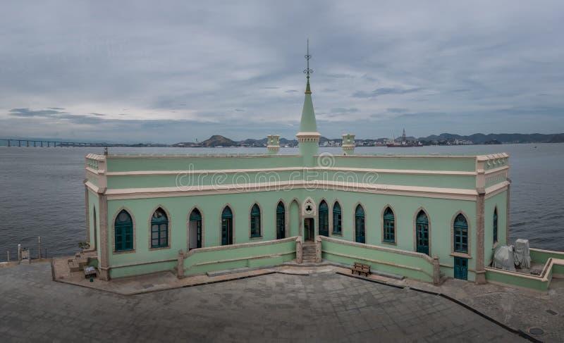 Île fiscale - Ilha fiscal dans la baie de Guanabara - Rio de Janeiro, Brésil image libre de droits