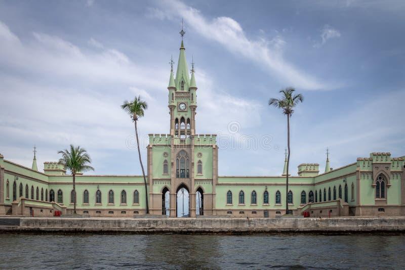 Île fiscale - Ilha fiscal dans la baie de Guanabara - Rio de Janeiro, Brésil images stock