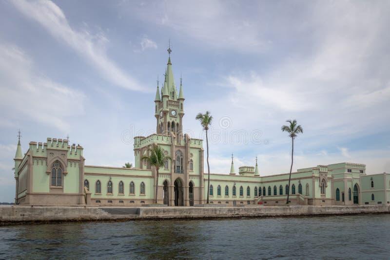 Île fiscale - Ilha fiscal dans la baie de Guanabara - Rio de Janeiro, Brésil photographie stock libre de droits