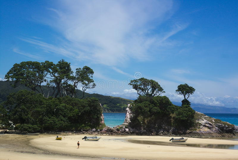 île grande Nouvelle Zélande de barrière photo stock