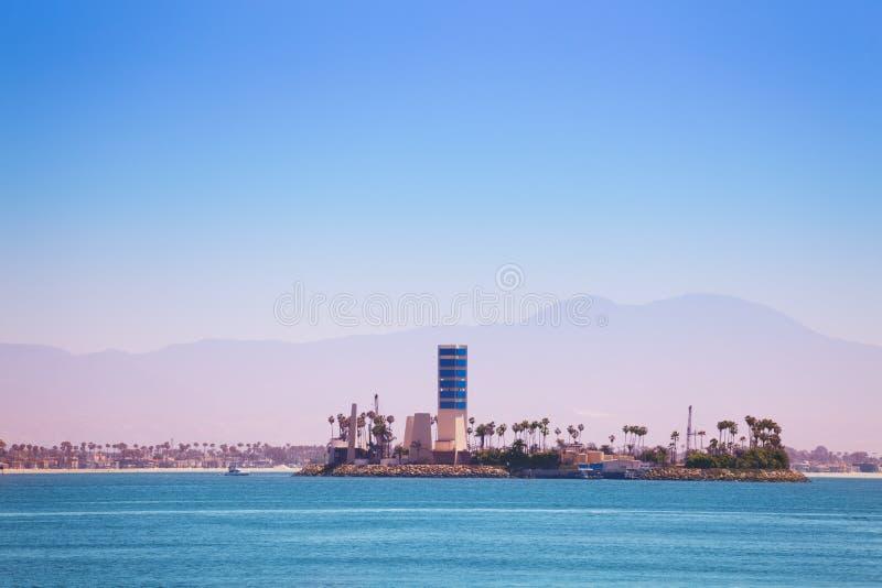 Île Grissom outre de la côte de Long Beach, Etats-Unis photographie stock libre de droits