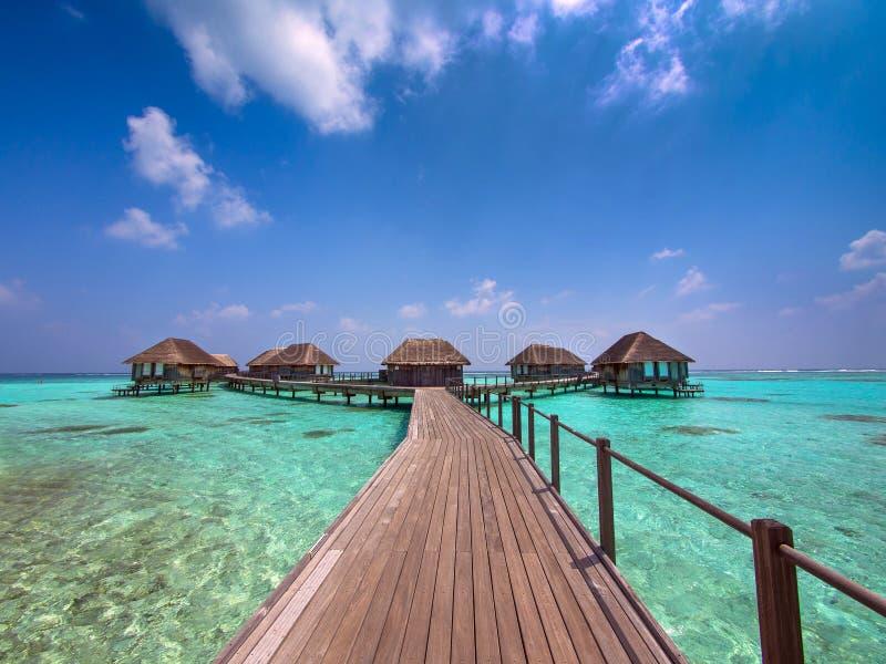 Île-hôtel Maldive images stock