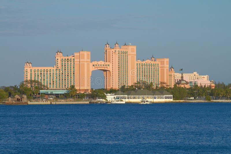 Île-hôtel de paradis de l'Atlantide à Nassau, Bahamas photos libres de droits