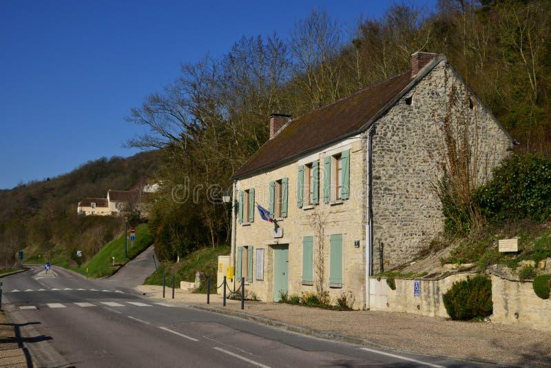 Île Haute, France - 29 février 2016 : village pittoresque dans W photo stock