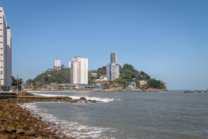 Île Ilha Porchat - sao Vicente, Sao Paulo, Brésil de Porchat photo stock