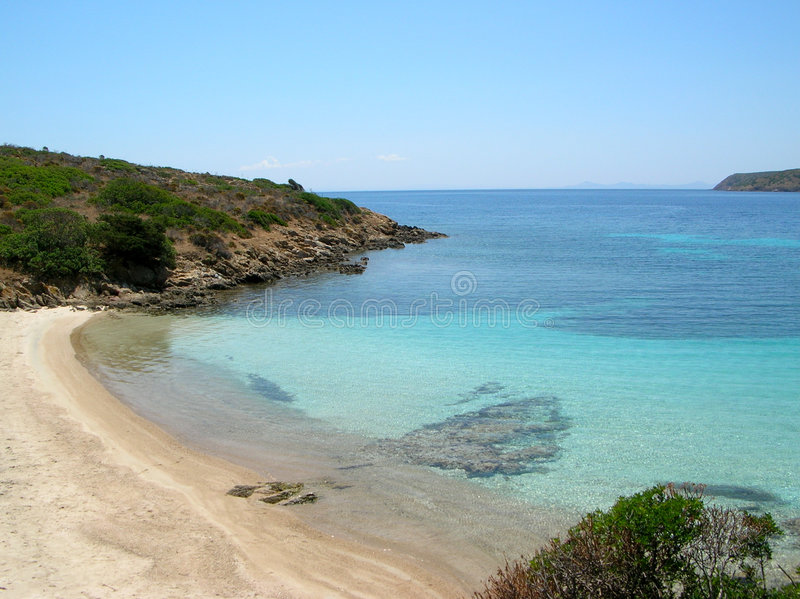 île Italie de plage d'asinara image stock