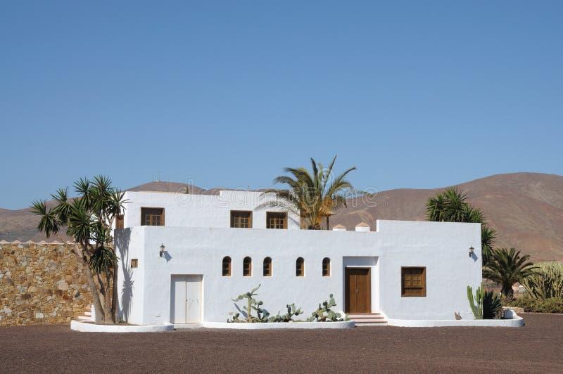 île jaune canari de maison de fuerteventura traditionnelle image libre de droits