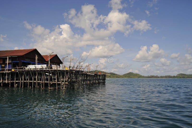 Île Kelong de Sibu image stock