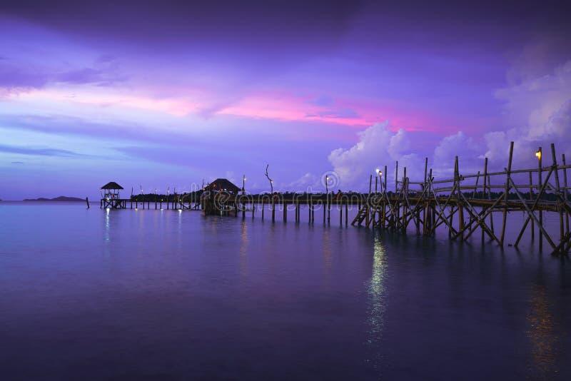 Île Koh Mak de valeurs maximales de concentration au poste de travail image libre de droits