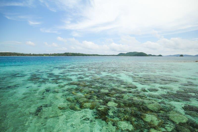 Île Koh Mak Trat Thailand de valeurs maximales de concentration au poste de travail images stock