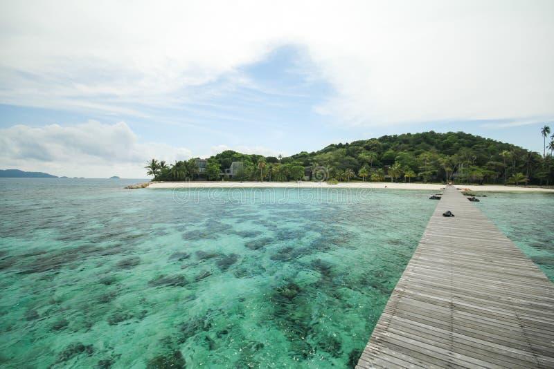 Île Koh Mak Trat Thailand de valeurs maximales de concentration au poste de travail photos stock