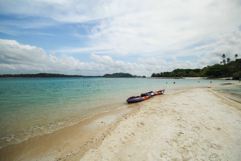 Île Koh Mak Trat Thailand de valeurs maximales de concentration au poste de travail image libre de droits