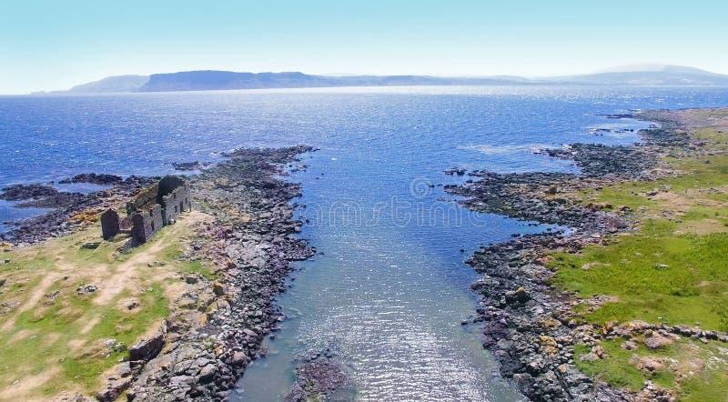?le l'Oc?an Atlantique Antrim Irlande du Nord de Rathlin photos libres de droits