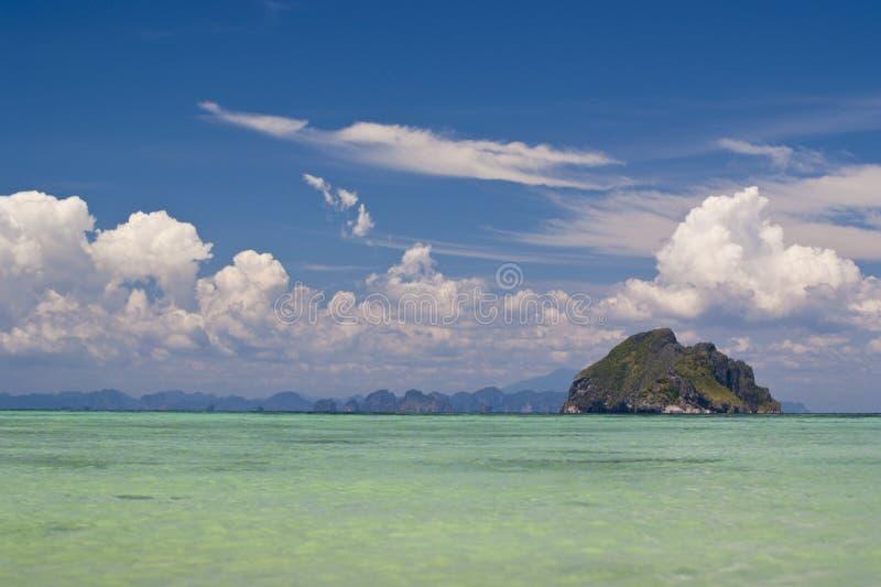 Île lointaine images libres de droits
