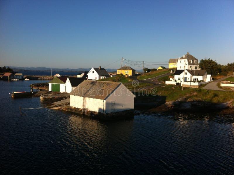 Île Norvège de Fedje image libre de droits