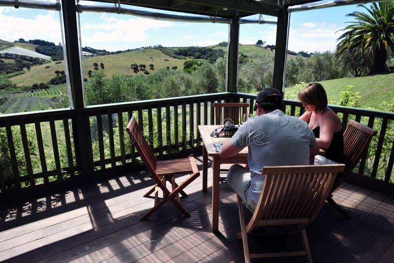 Île Nouvelle-Zélande de Waiheke image stock