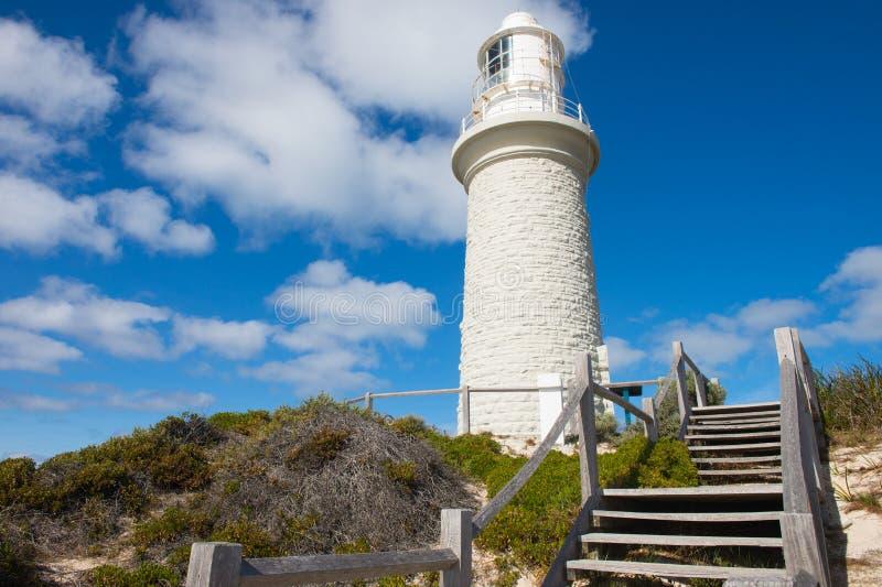 Île Perth de Rottnest de phare de Bathurst photographie stock libre de droits