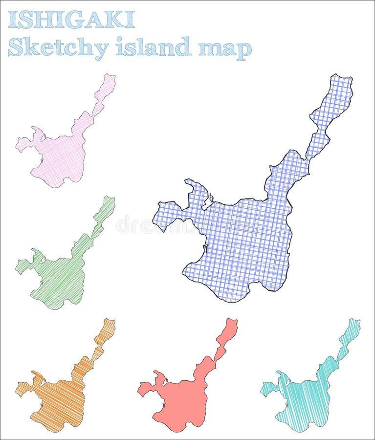 Île peu précise d'Ishigaki illustration libre de droits