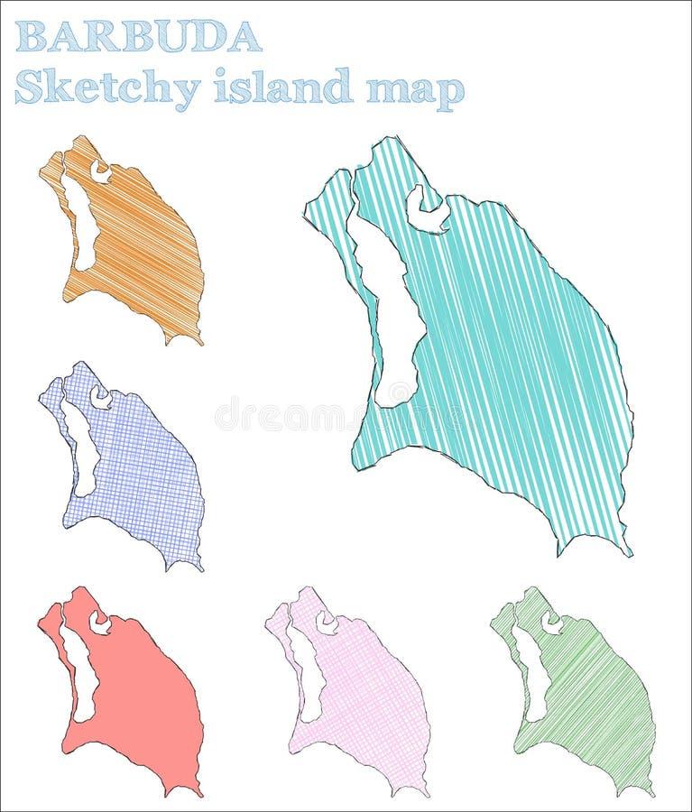 Île peu précise de Barbuda illustration de vecteur