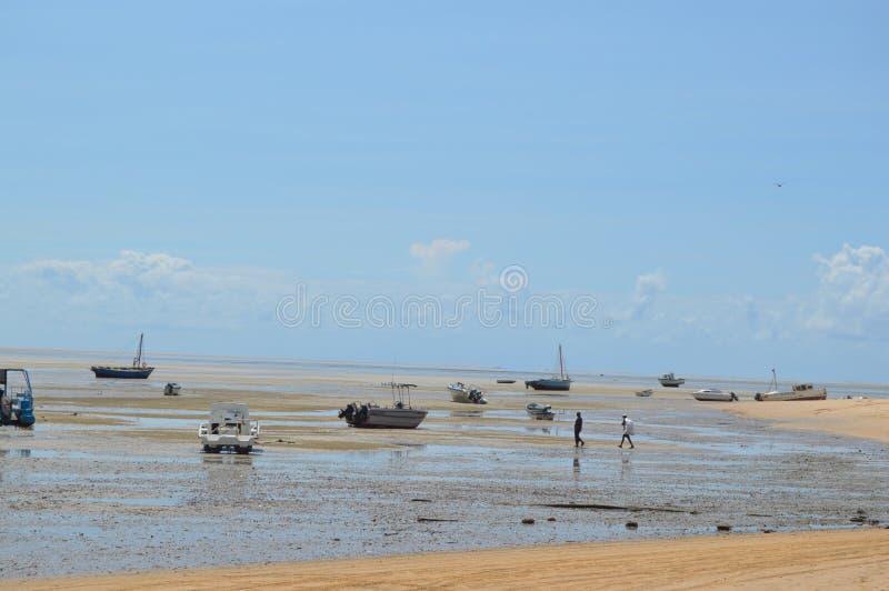 Île portugaise immaculée et de turquoise près d'île d'Inhaca à Maputo Mozambique images stock