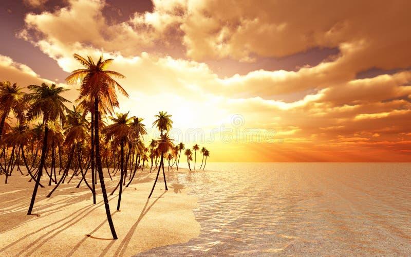 Île rêveuse illustration libre de droits