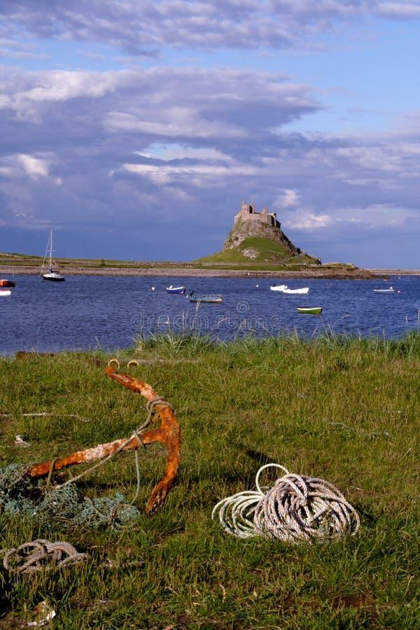 Île sainte, le Northumberland photos libres de droits