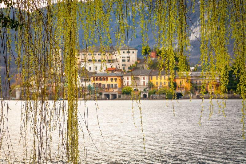Île San Giulio Orta Lake, Italie image libre de droits