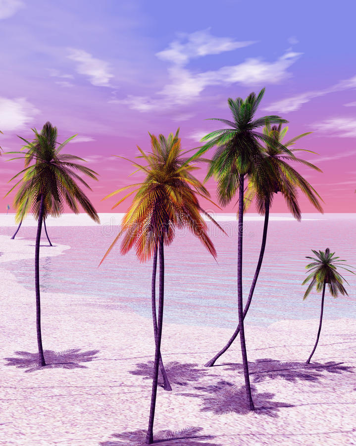 Île tropicale illustration de vecteur