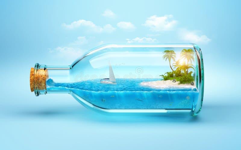 Download Île tropicale illustration stock. Image du bleu, loisirs - 40145390