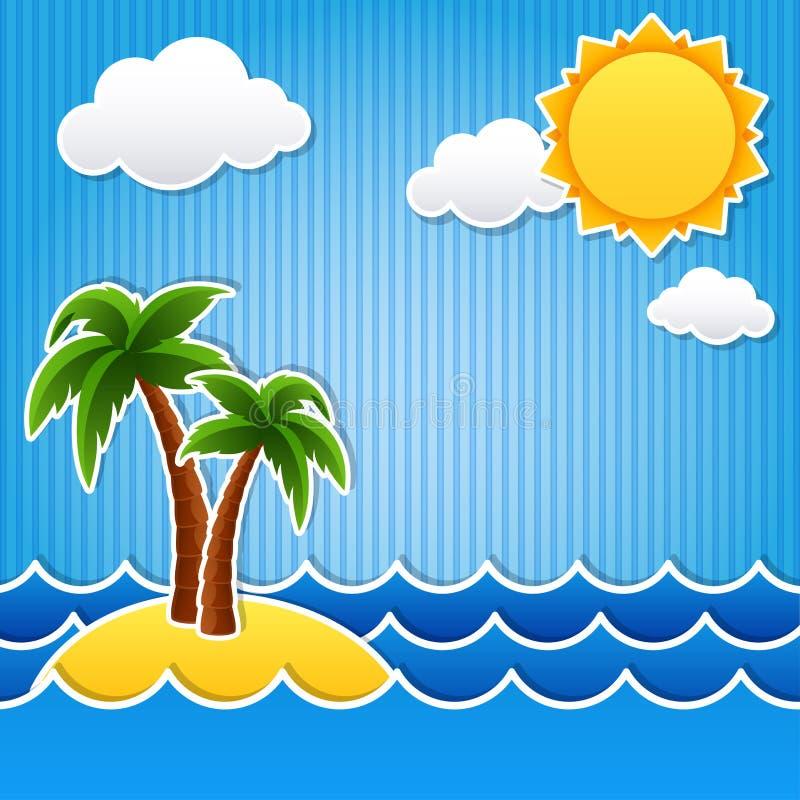 Île tropicale illustration libre de droits