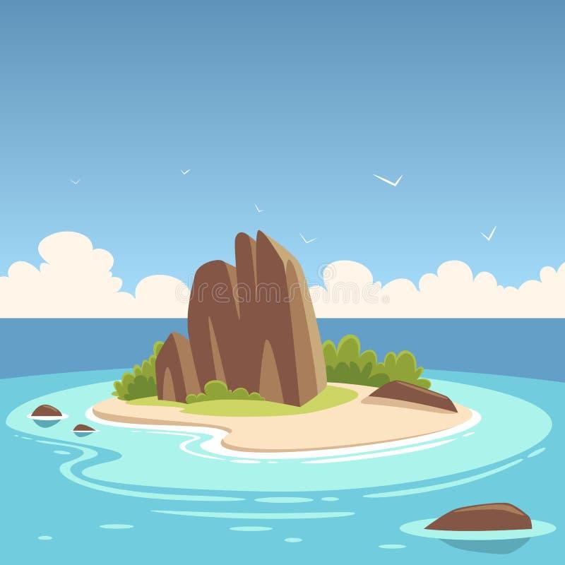 Île tropicale illustration stock