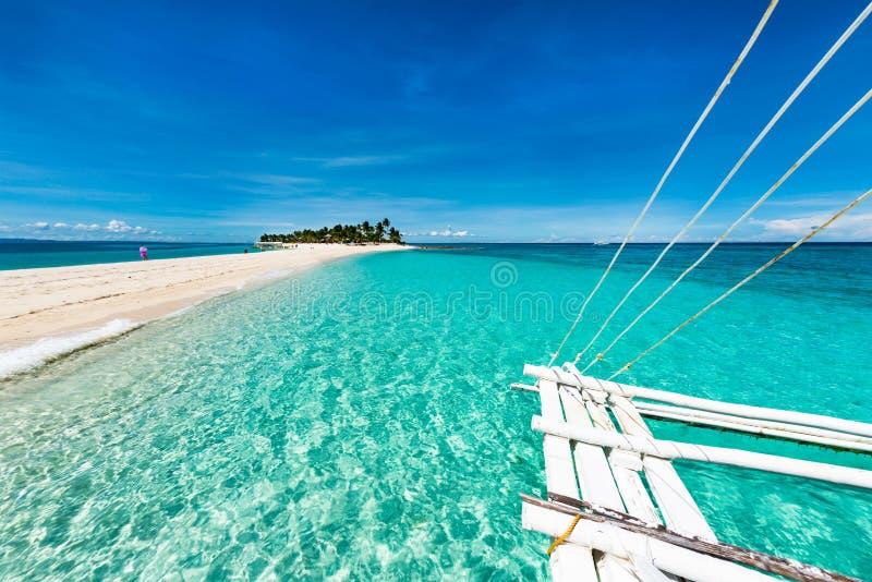 Île tropicale de Kalanggaman de plage photos libres de droits