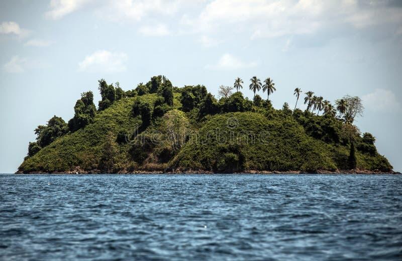 Île tropicale en parc national de Coiba photos libres de droits