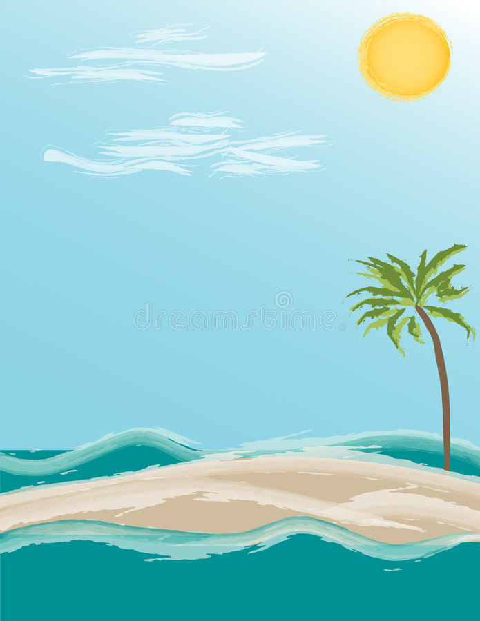Île tropicale - illustration illustration stock