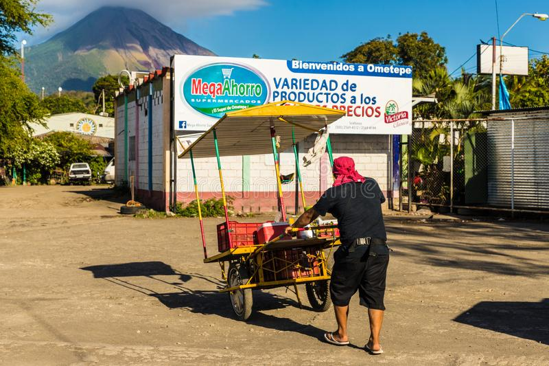 Île volcanique d'Ometepe image stock
