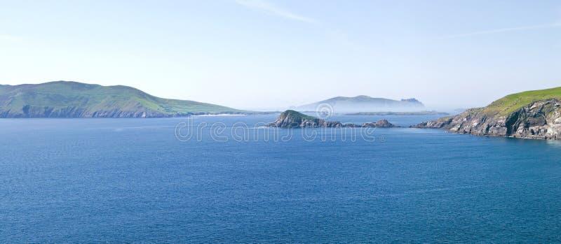 Îles de Blasket et tête de Dunmore image stock