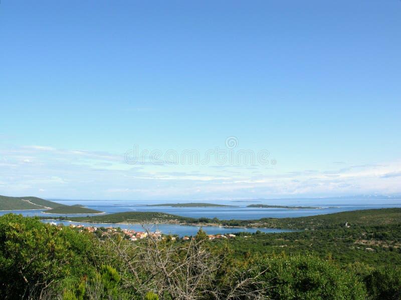 îles de la Croatie image stock