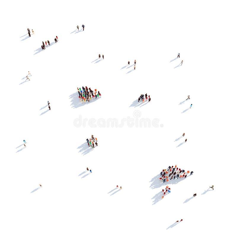 Îles de Marquesas de carte de forme de groupe de personnes photos stock