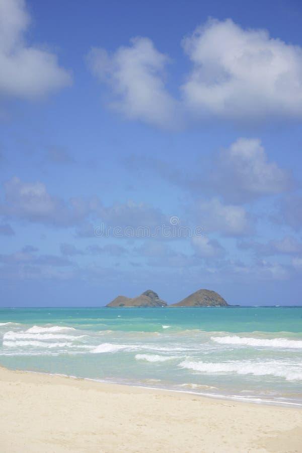 Îles de Mokulua, Hawaï images stock