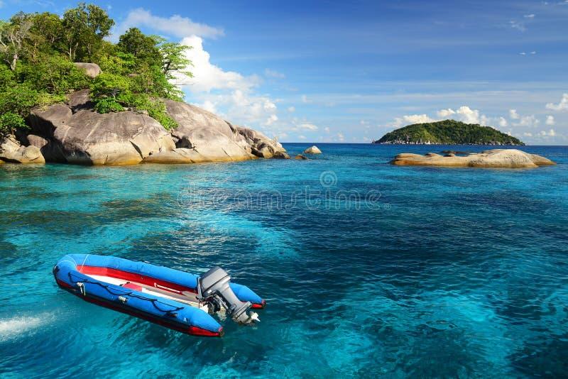 Îles de Similan en mer d'Andaman, Thaïlande photos libres de droits