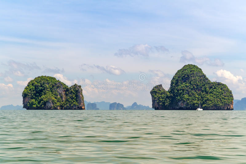 Îles De Stationnement National De Phang Nga En Thaïlande Image stock