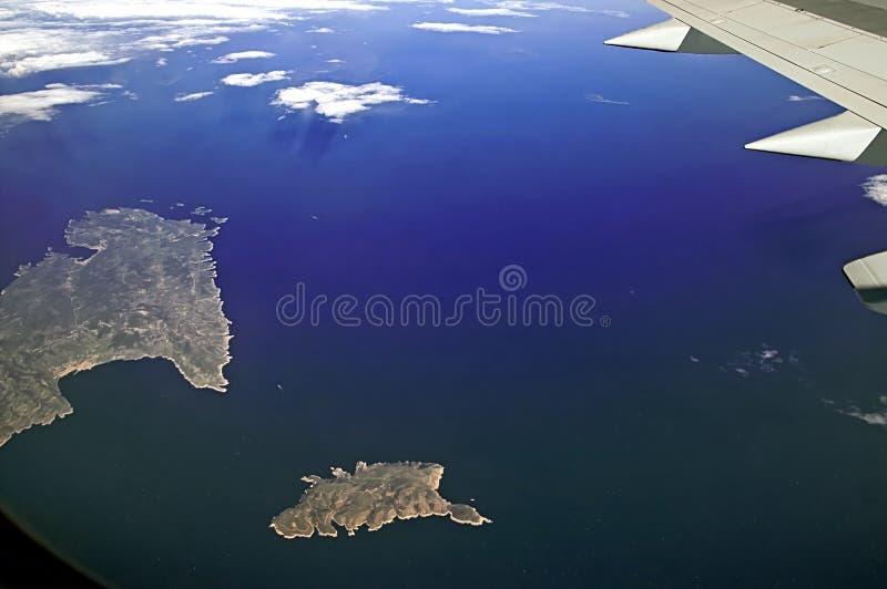 Îles en mer Méditerranée près de la côte de l'Italie, vue f photo stock