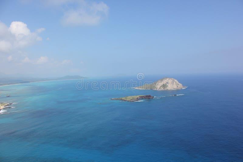 Îles hawaïennes dans l'océan pacifique images stock