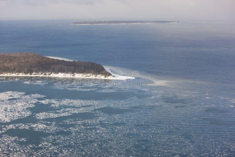 îles le Wisconsin d'apôtre image libre de droits