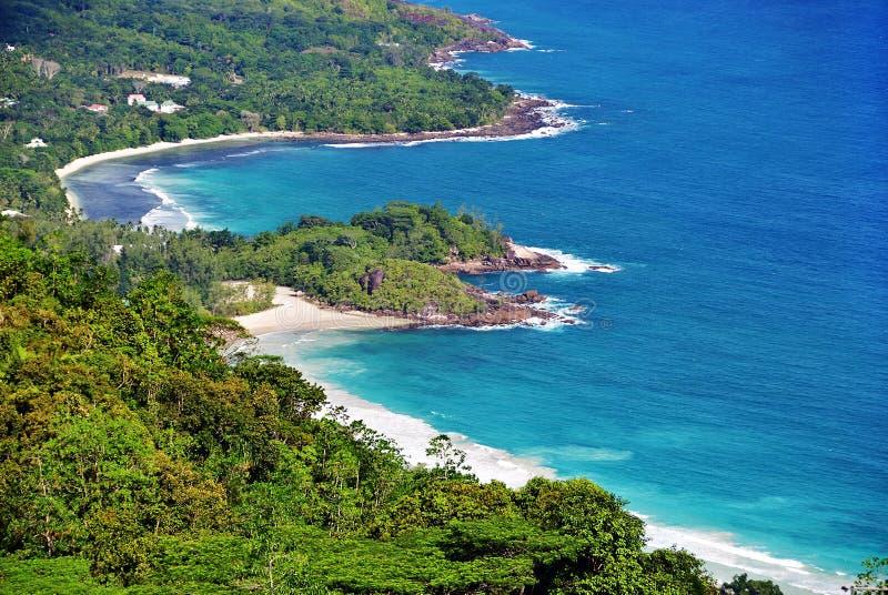 Îles Mahe des Seychelles photo stock
