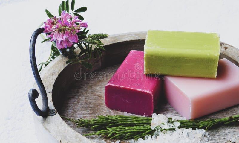 ράβδος χειροποίητο φυσικό soap spa στοκ εικόνες